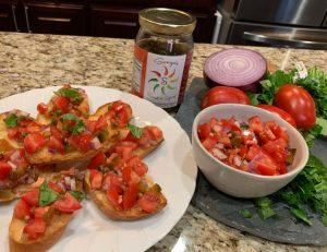 Sonya Sweet Spicy - Spicy Bruschetta