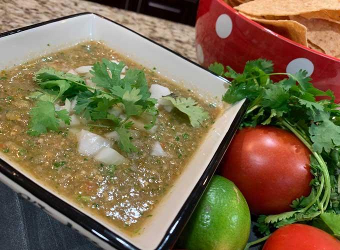 Tomatillo Jalapeno Spicy Salsa Verde Homemade Recipe