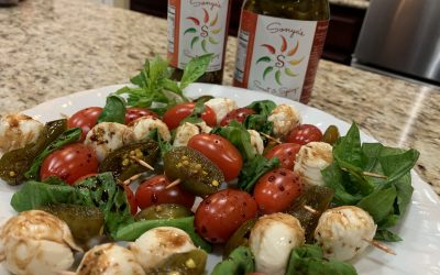 Fresh Spicy Caprese Mozzarella Basil Jalapeno Appetizer Salad