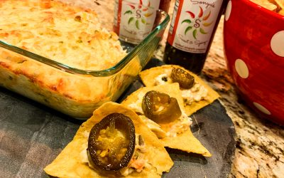 Hot Sweet & Spicy BAKED CHEESY Artichoke Dip GAME DAY Appetizer