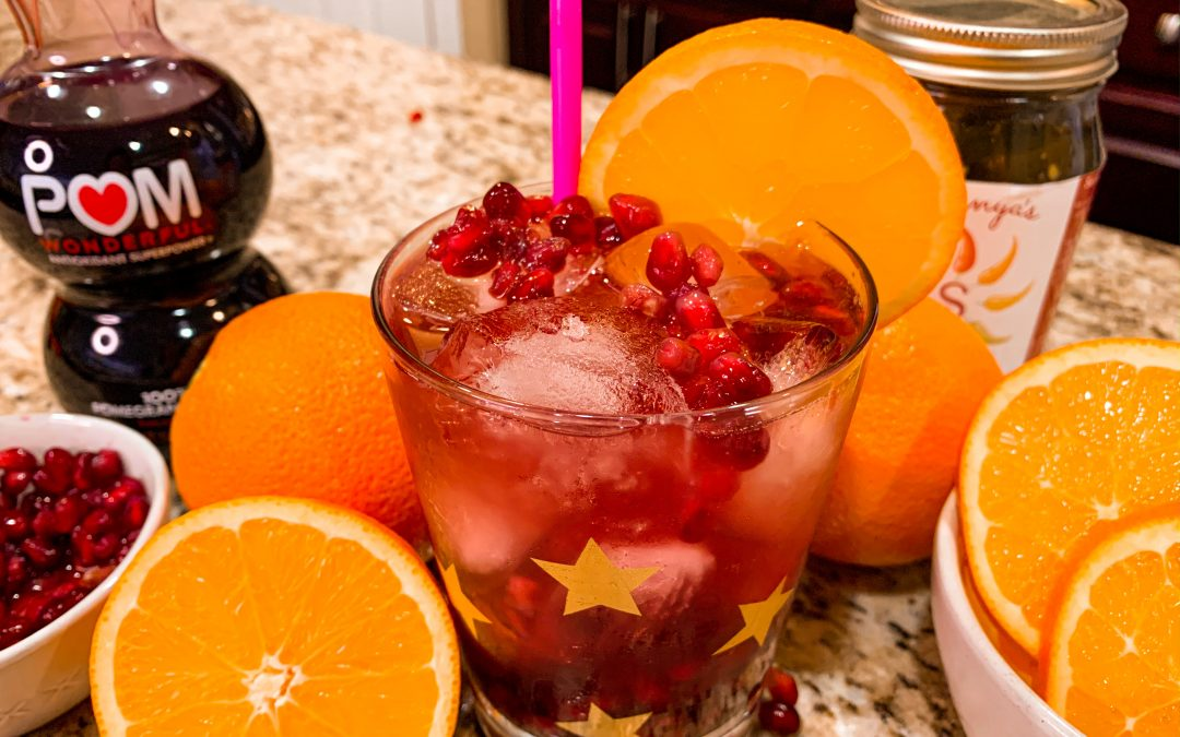 Pomegranate Ginger and Citrus Infused Spiced Cocktail