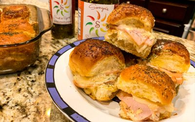 Spicy Hawaiian Ham or Turkey Swiss Cheese Sliders Melted Baked Goodness