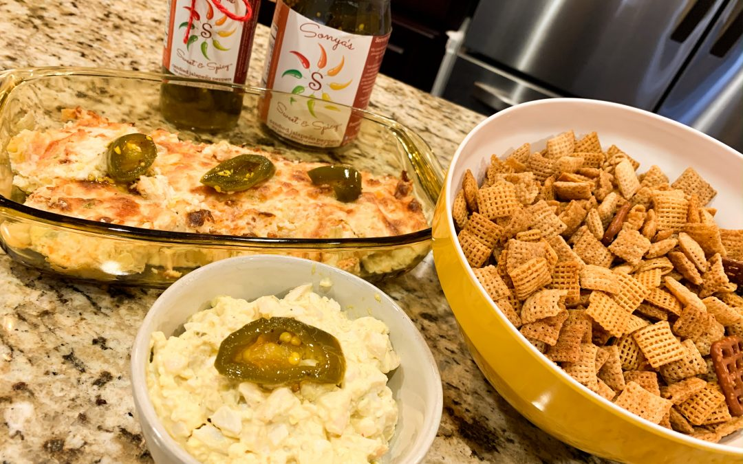 Recipe Recap Artichoke Dip, Spicy Egg Salad and Spicy Chex Mix