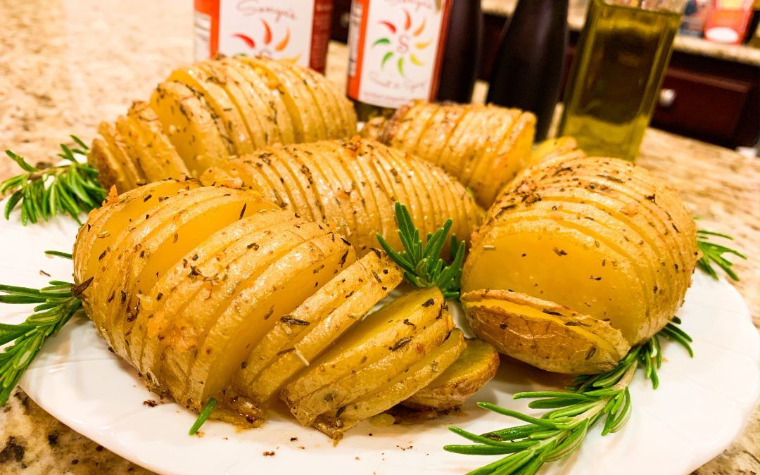 Hasselback Potatoes Spicy and Herbed AMAZING RECIPE easy