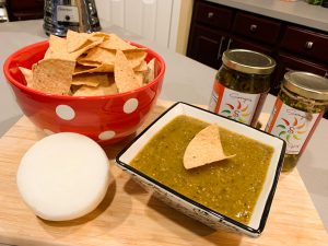 Sonya Sweet Spicy - Oven roasted tomatillos for salsa verde recipe