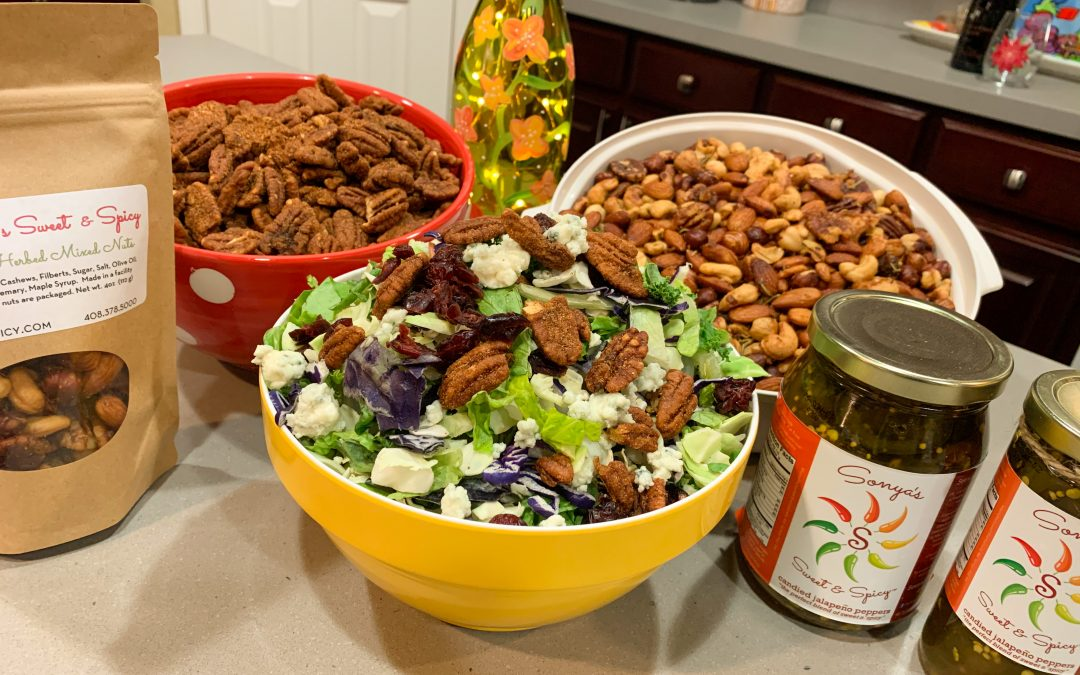 Holiday Cranberry Blue Cheese Sweet & Spicy PECAN Salad